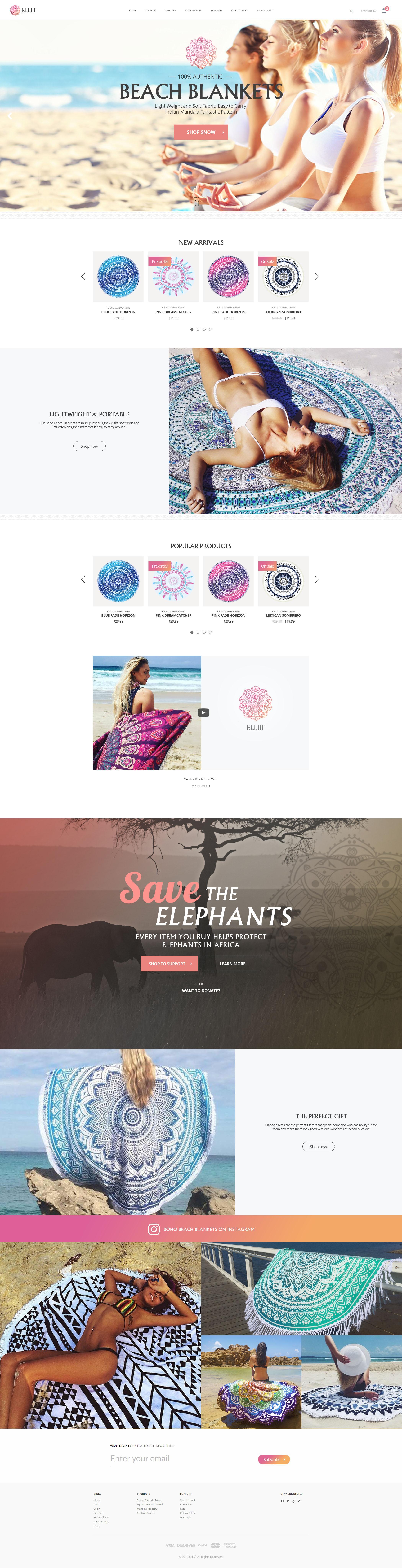 Elliii Homepage
